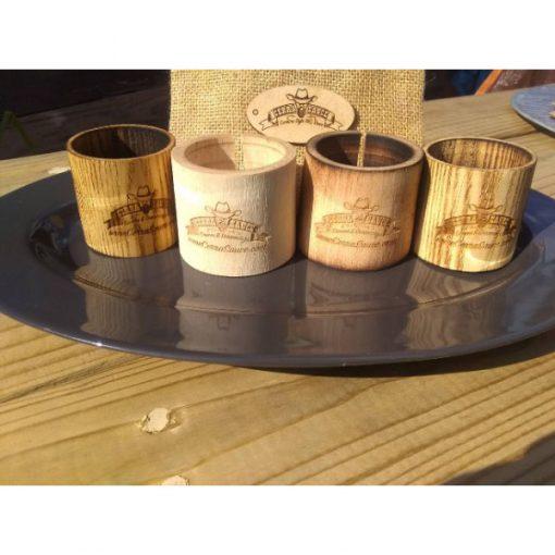 Wooden shot-glass set